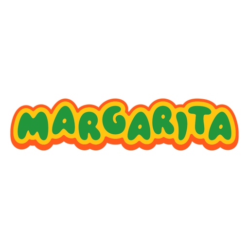 Margarita text label lettering
