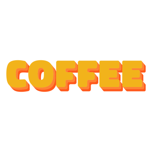 Coffee text label lettering
