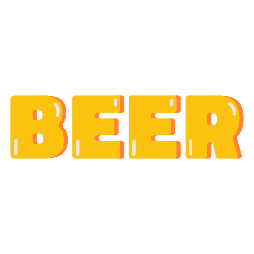 Beer glossy