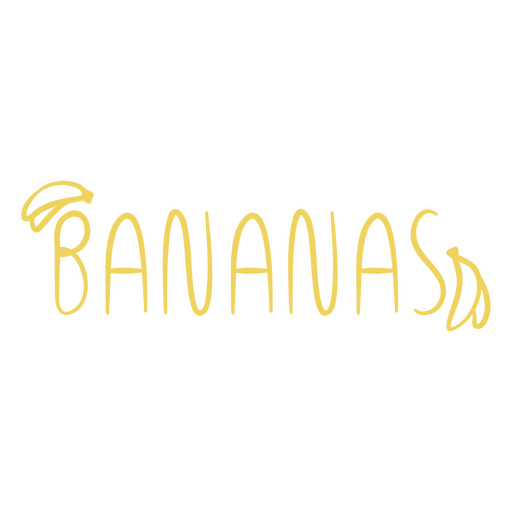 Banana text doodle label