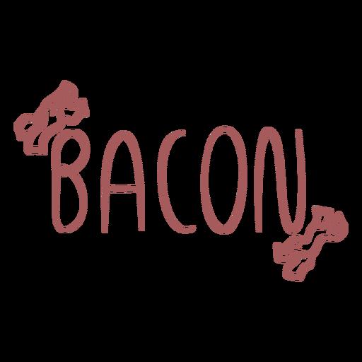 Bacon text doodle label