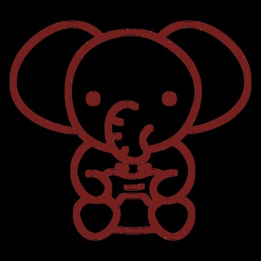 Baby elephant animal gamer
