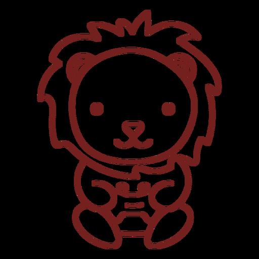Baby lion animal gamer