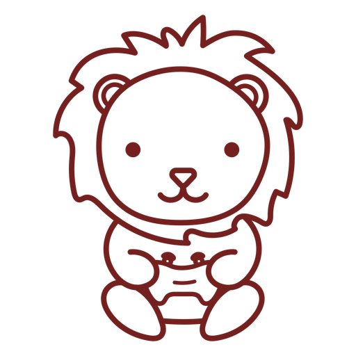 Jogador bebê leão animal