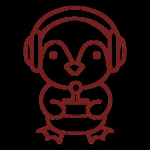 Jugador de animales de pingüino bebé