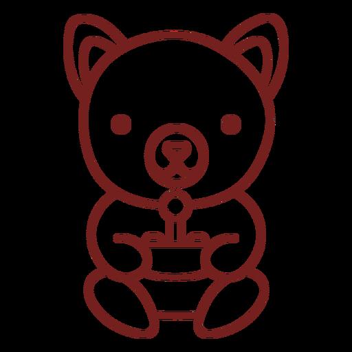 Baby bear animal gamer