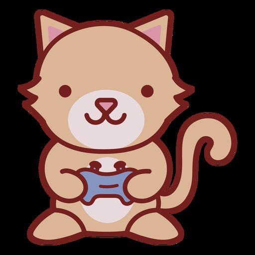 Baby cat animal gamer