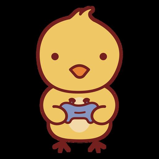 Baby bird cute animal gamer
