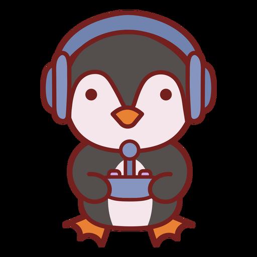 Baby penguin cute animal gamer