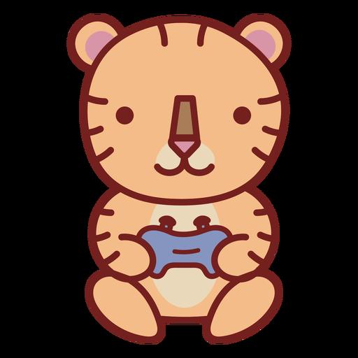 Baby tiger cute animal gamer