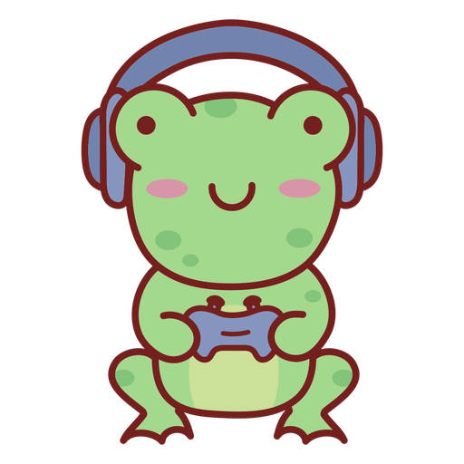 Baby frog cute animal gamer