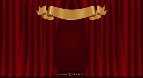 Cortina cortina vector de fondo de patrón