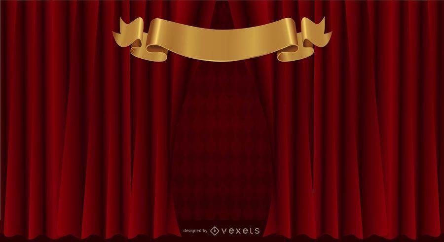 Cortina cortina vetor de fundo padrão