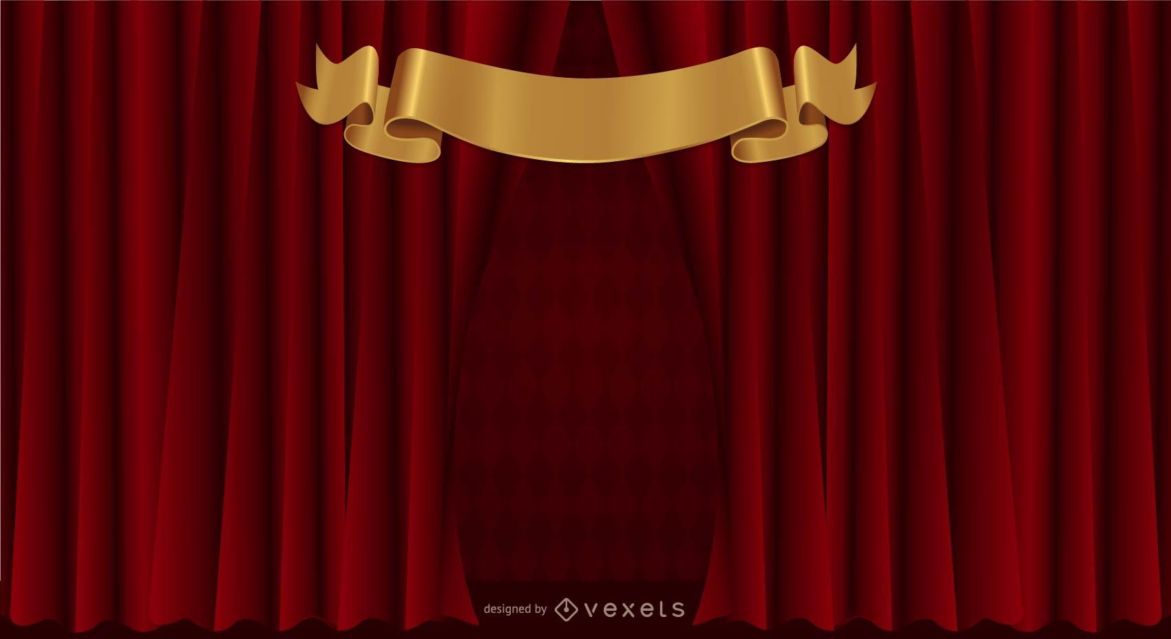 Curtain curtain pattern background vector