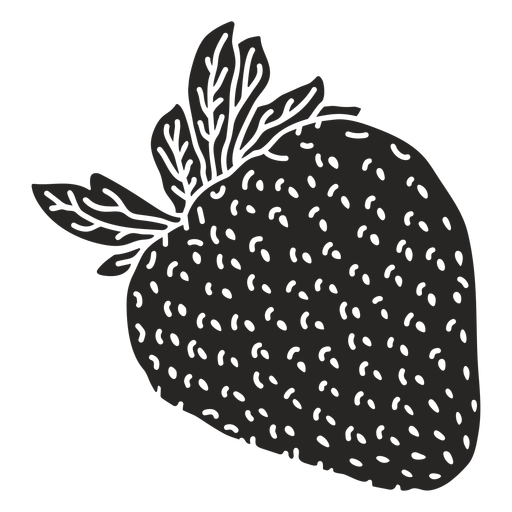 Strawberry detailed cut out