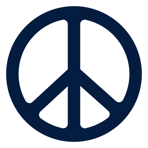 Hippie peace sign flat