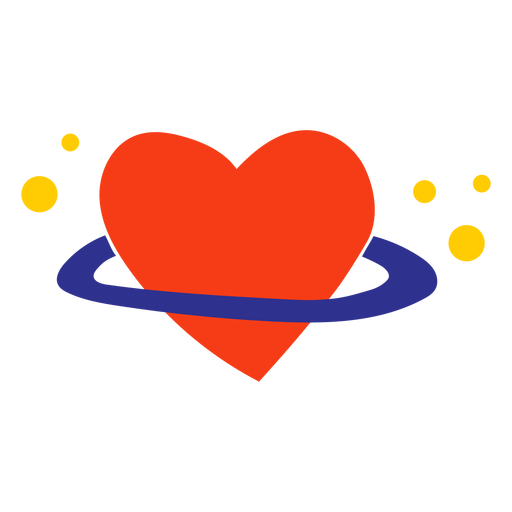Saturn heart flat