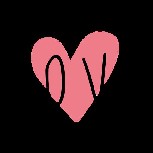 Love badge flat