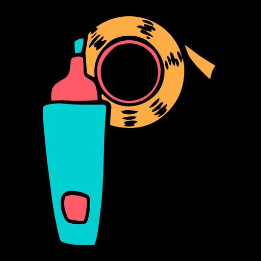 School supplies alphabet P color stroke