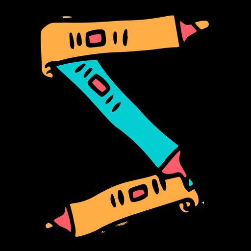 School supplies alphabet S color stroke
