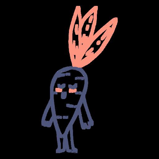Cute happy carrot