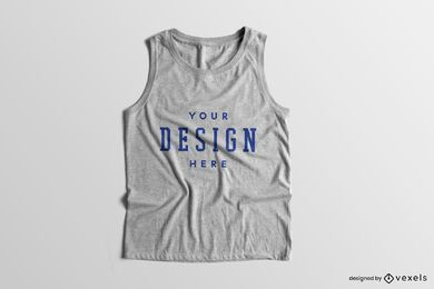 Solid background tank top sleeveless mockup