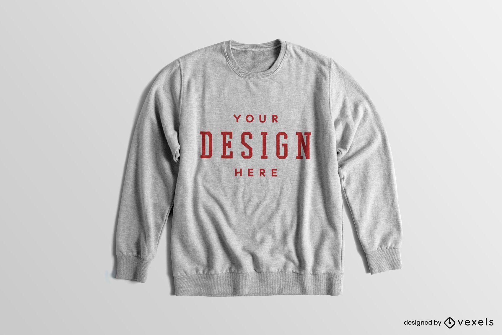 Long sleeved melange sweatshirt mockup