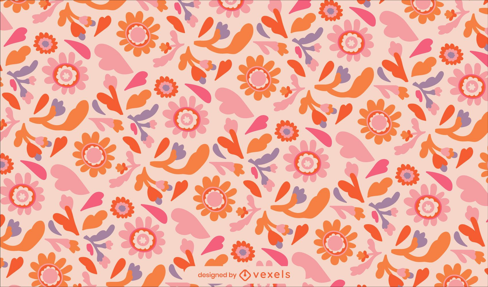 Peace day floral nature pattern design