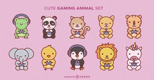 Cute wild animals gaming joystick set