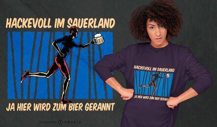 Beer running German quote t-shirt design