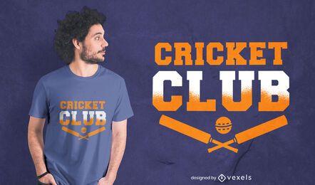 Design de camiseta com citações do clube de esporte de críquete