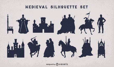 Mittelalterliche Königreichsschattenbildpackung