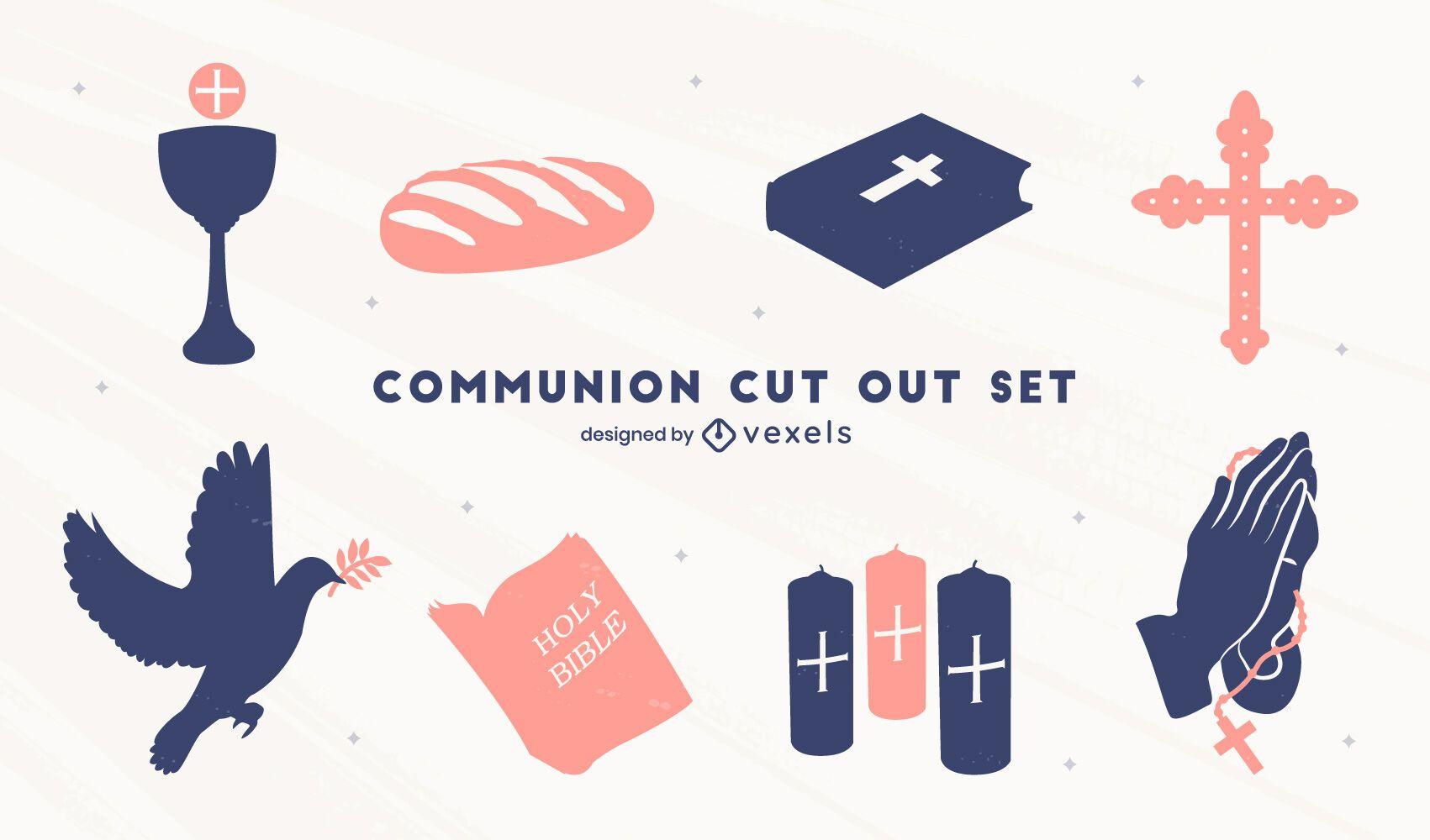 Christliche Kommunion ausgeschnitten gesetzt