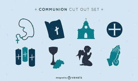 Conjunto de elementos de comunión de cristianismo