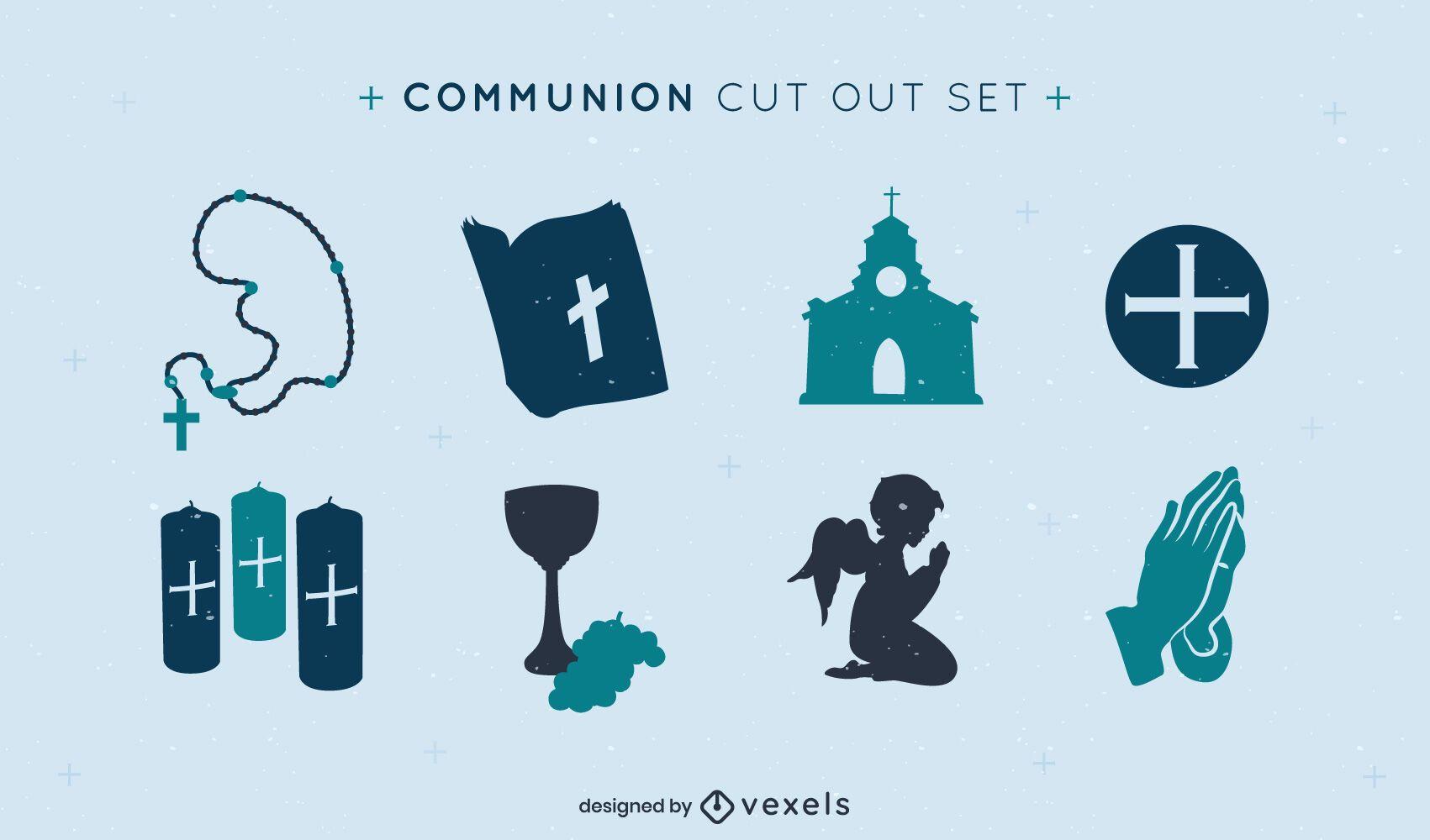 Elemente der Gemeinschaft des Christentums gesetzt