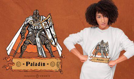 Paladin Rollenspiel Charakter T-Shirt Design