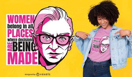 Design de t-shirt de citação de empoderamento feminino