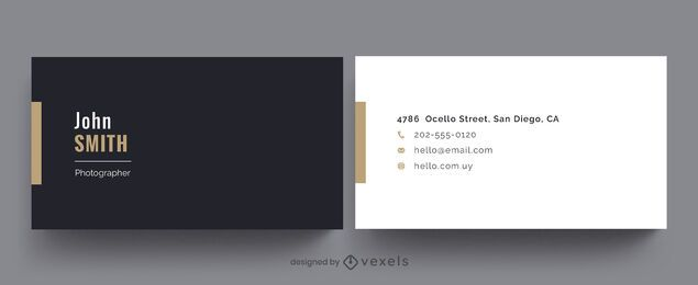 Diseño simple de tarjeta de visita profesional