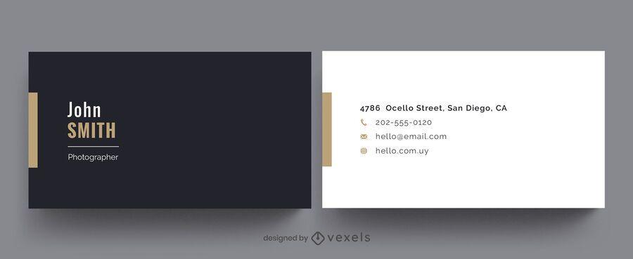 Professional business card simple design