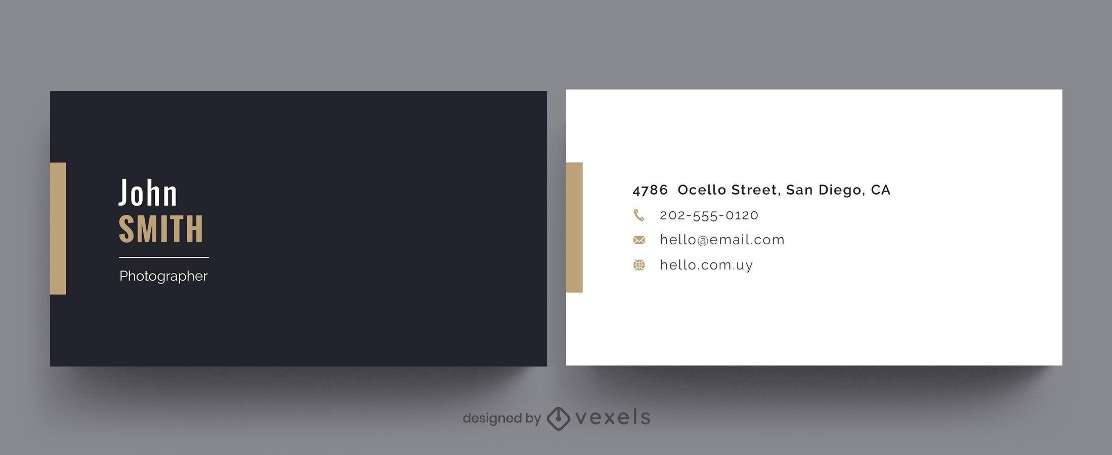 Einfaches Design der professionellen Visitenkarte