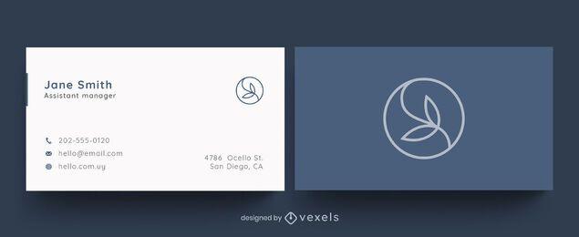 Diseño de hoja de tarjeta de visita profesional