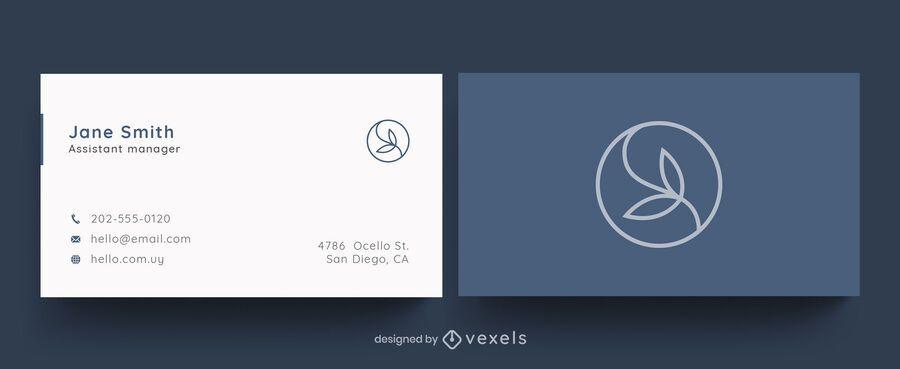 Professional business card leaf design