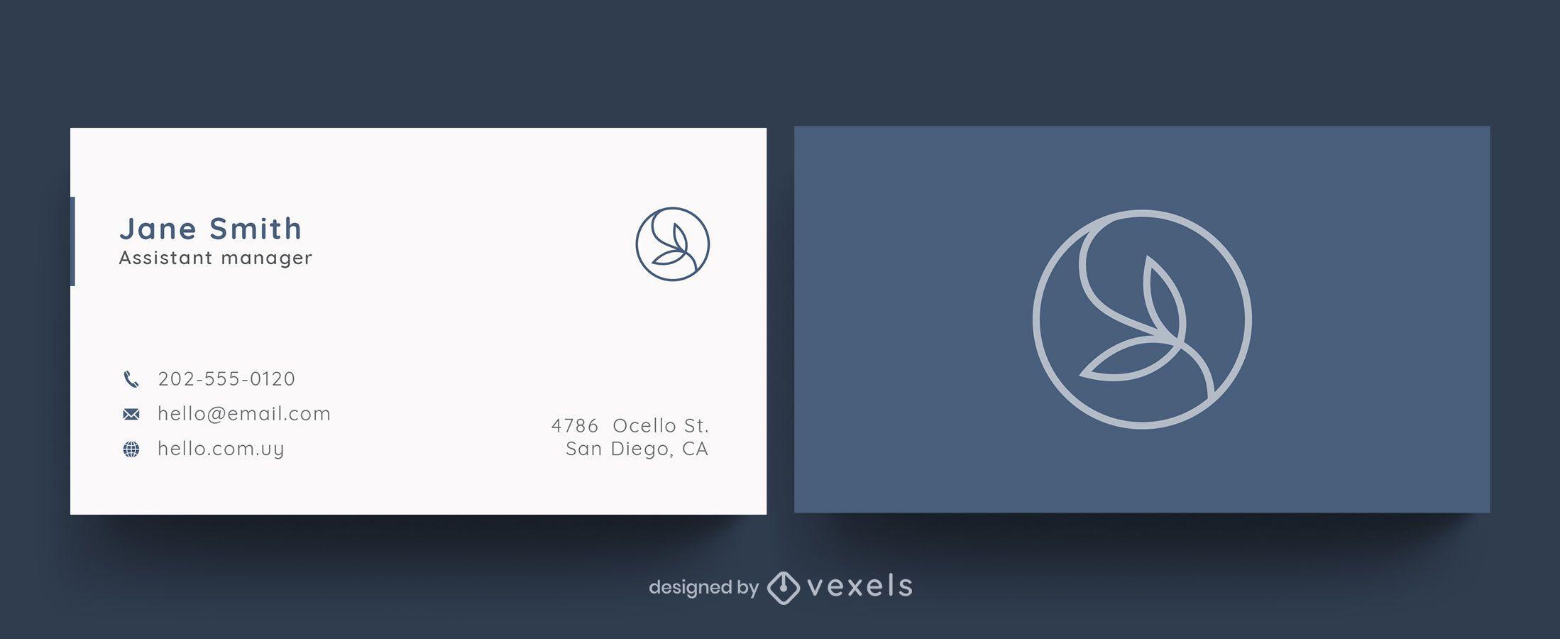 Professionelles Visitenkartenblattdesign