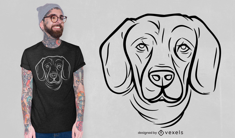 Dog face line art t-shirt design