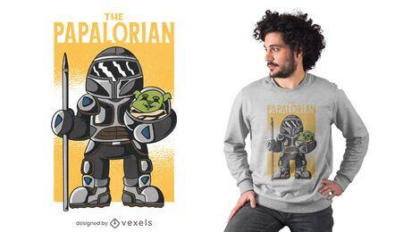 Diseño de camiseta de parodia de padre alienígena.