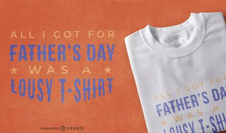 Diseño de camiseta de regalo divertido del día del padre