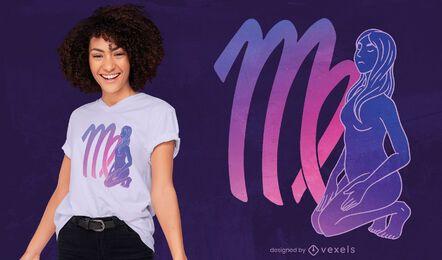 Design de camiseta mística do signo do zodíaco
