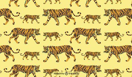 Tiger wild animal pattern design