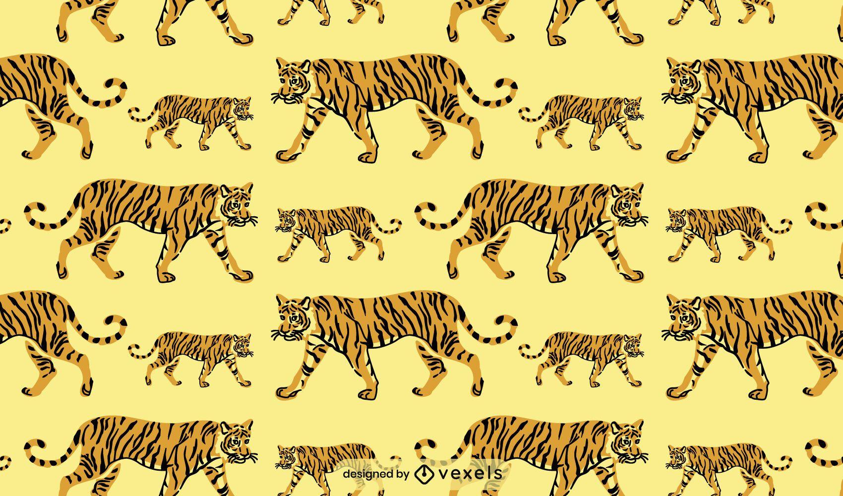 Desenho de padr?o de tigre animal