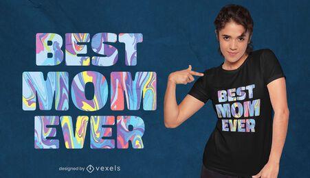 Diseño de camiseta tye dye de la mejor mamá del día de la madre